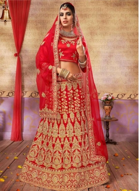 Satin Silk Trendy Lehenga Choli For Festival