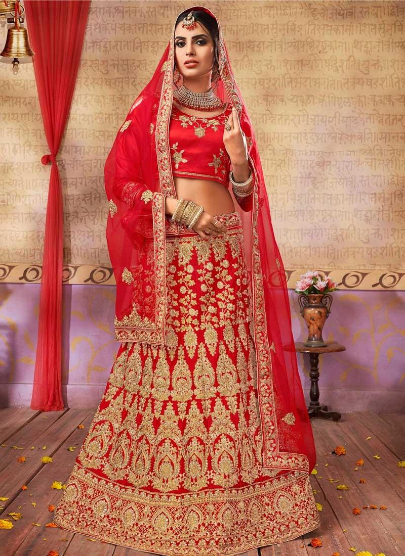 Satin Silk Trendy Lehenga Choli For Festival