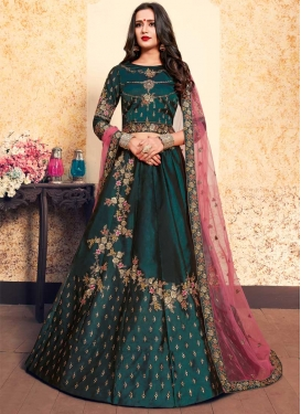 Satin Silk Trendy Lehenga For Festival