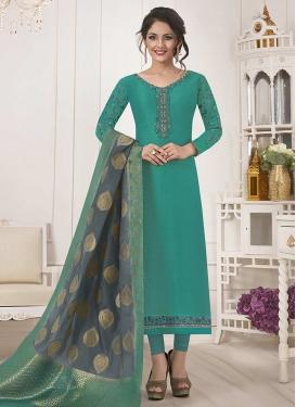 Satin Silk Trendy Pakistani Salwar Kameez