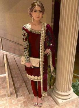 Satin Silk Trendy Salwar Kameez