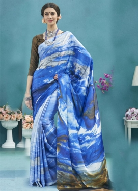 Satin Traditional Saree For Ceremonial