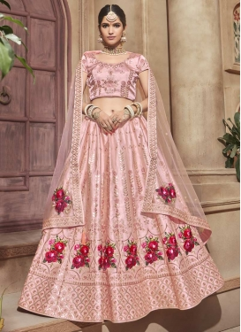 Satin Trendy A Line Lehenga Choli