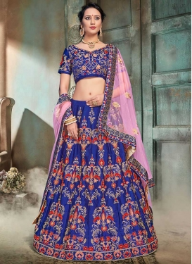 Satin Trendy Lehenga Choli For Bridal