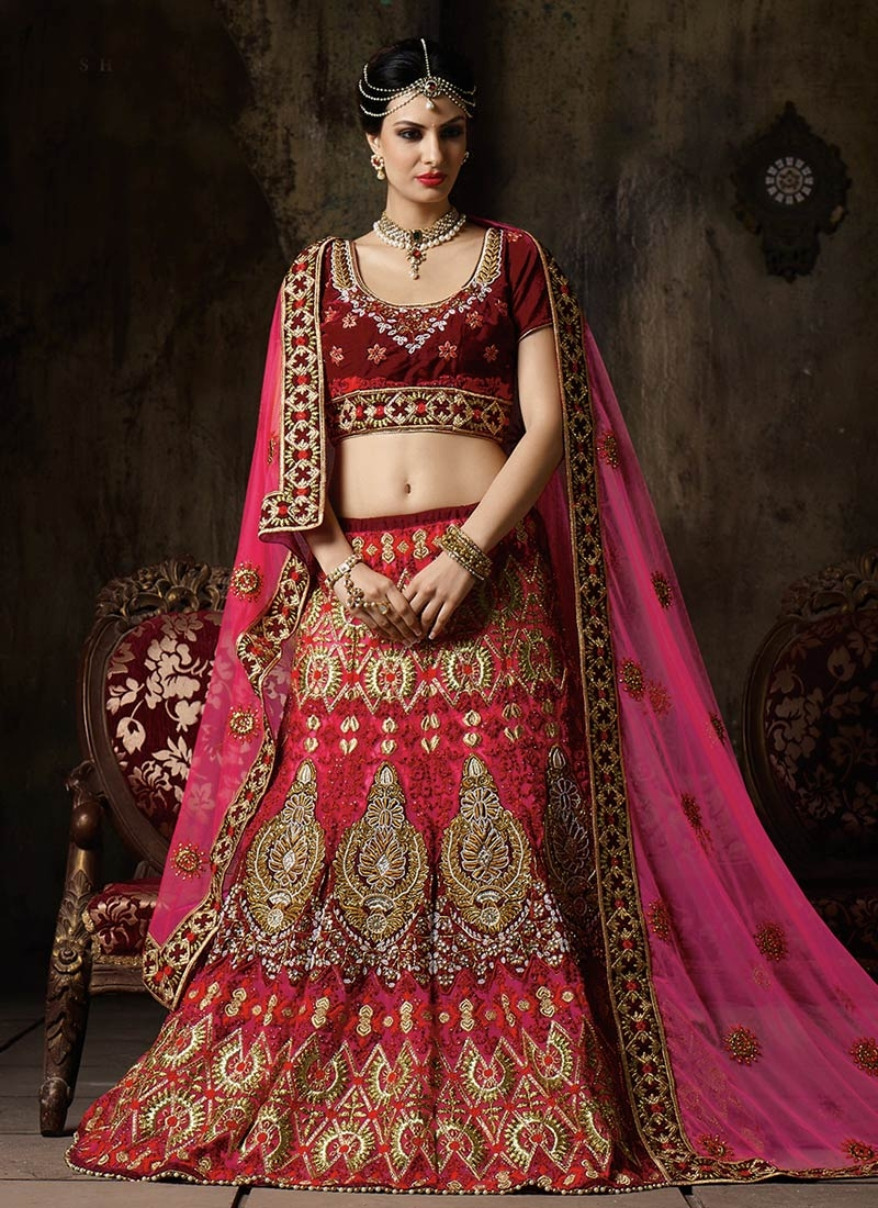 Savory Beads And Cutdana Work Bridal Lehenga Choli