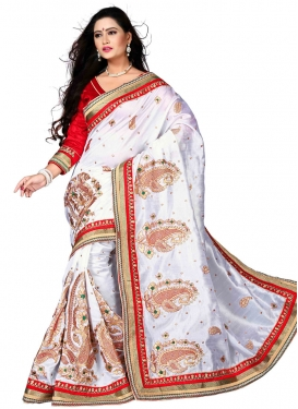 Savory Booti And Stone Work Designer Saree