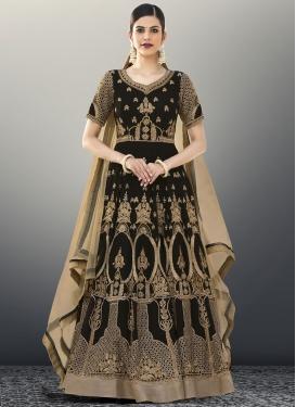 Savory Booti Work  Floor Length Anarkali Salwar Suit