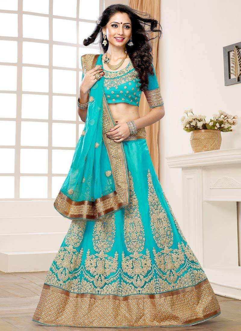 Savory Booti Work Net Wedding Lehenga Choli