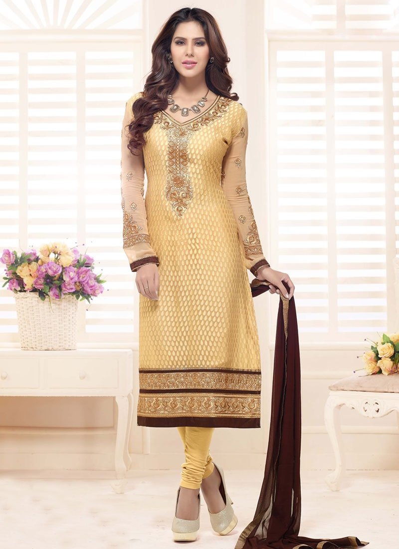 Savory Lace Work Straight Party Wear Salwar Suit