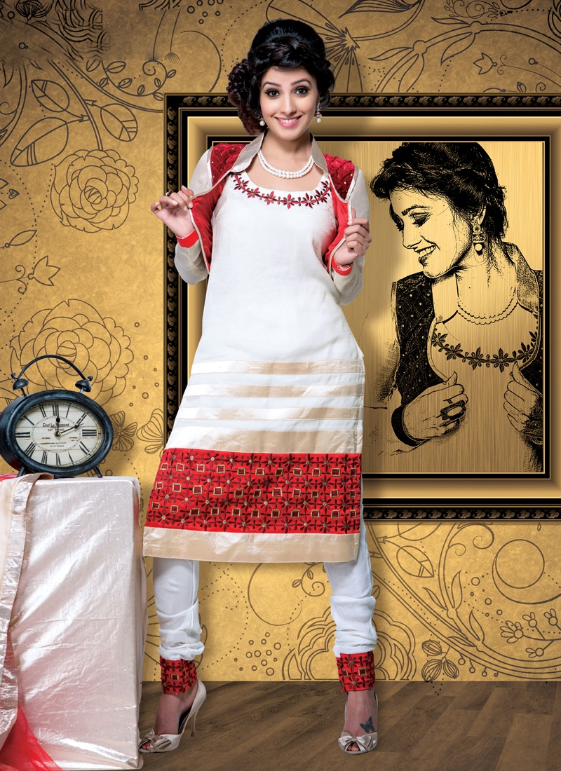 Scintillating Off White Color Party Wear Salwar Suit
