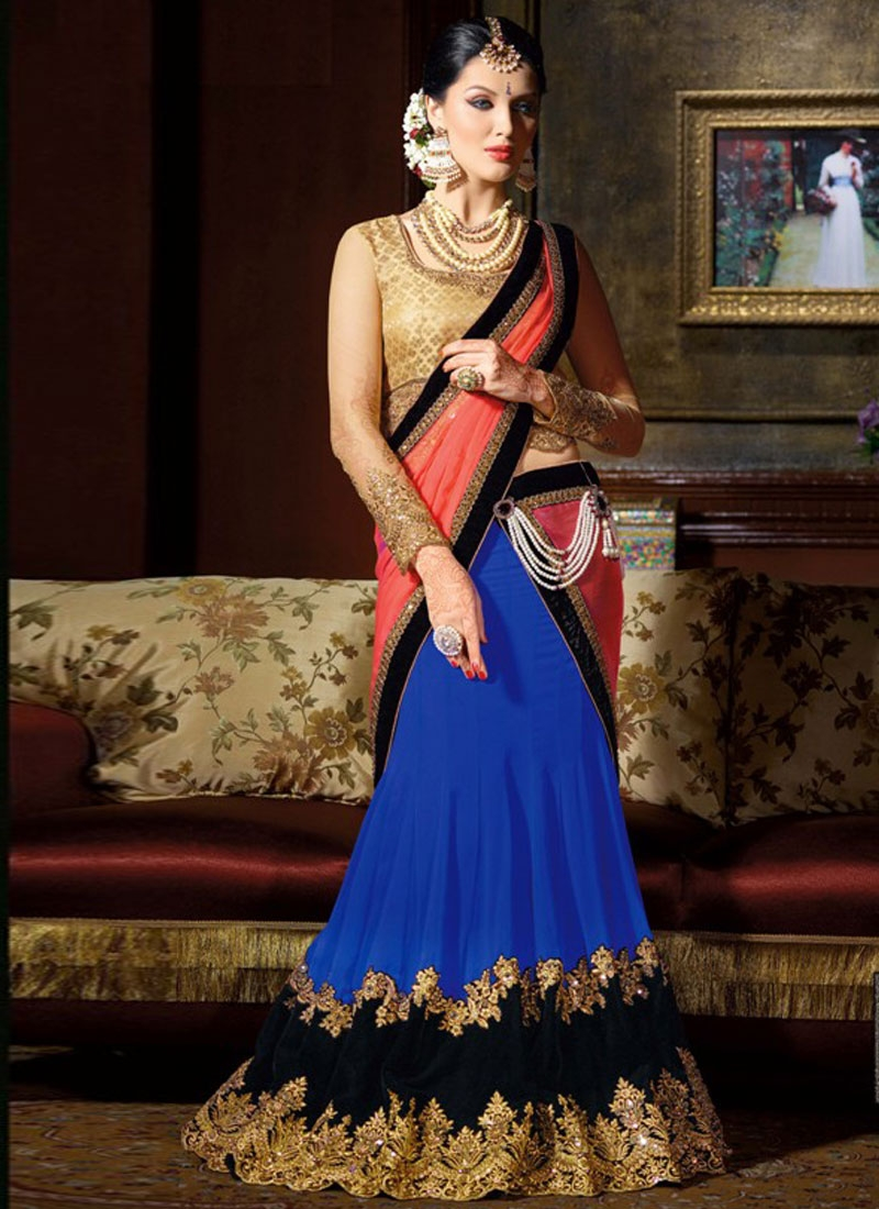 Scintillating Patch Border Work Designer Lehenga Choli