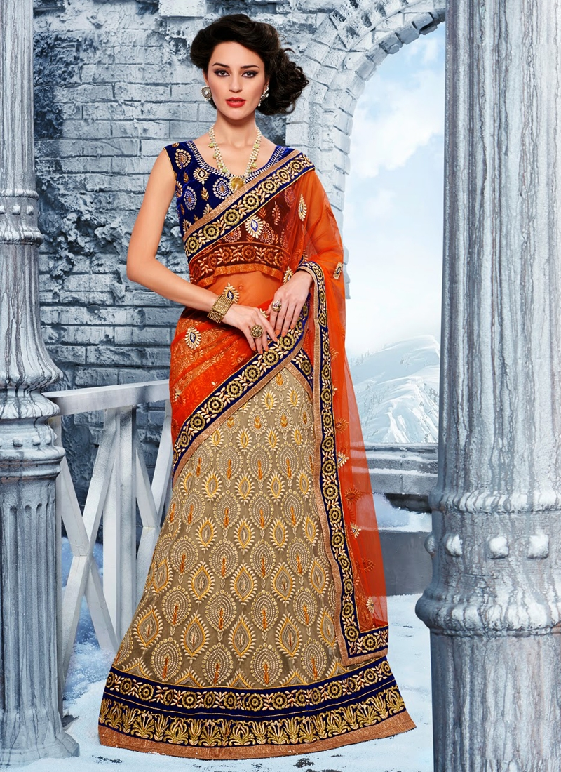 Scintillating Resham Work Net Wedding Lehenga Choli