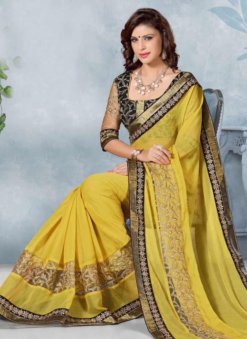 Scintillating Sequins Work Designer Saree