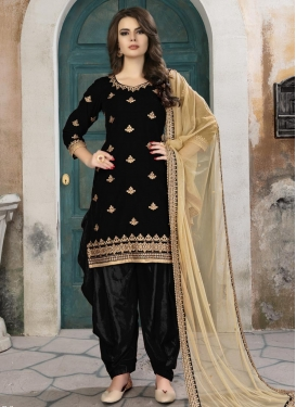 Semi Patiala Salwar Kameez For Ceremonial