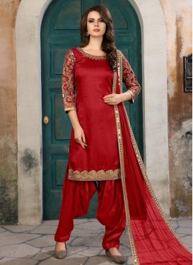 Semi Patiala Salwar Suit For Festival