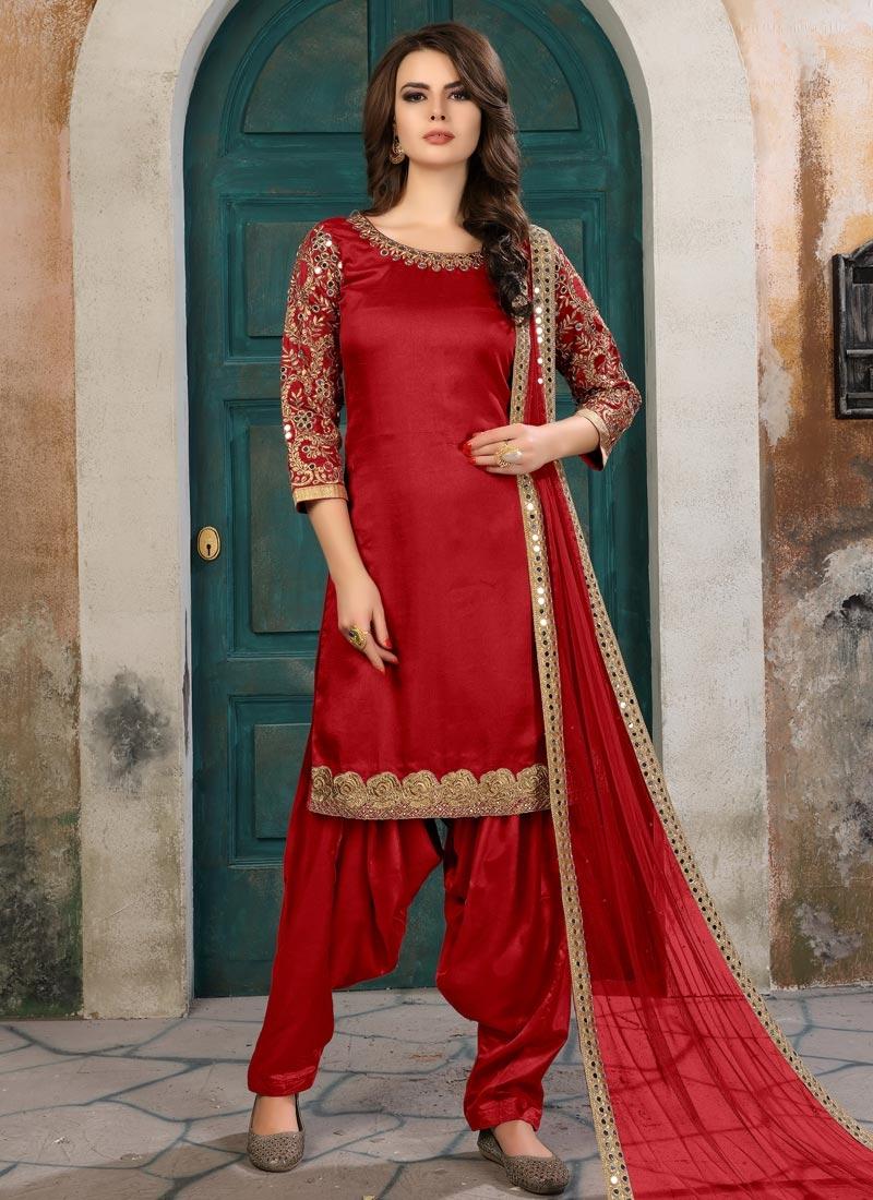 49fd856b5a Buy Semi Patiala Salwar Suit For Festival Online - Salwar Kameez