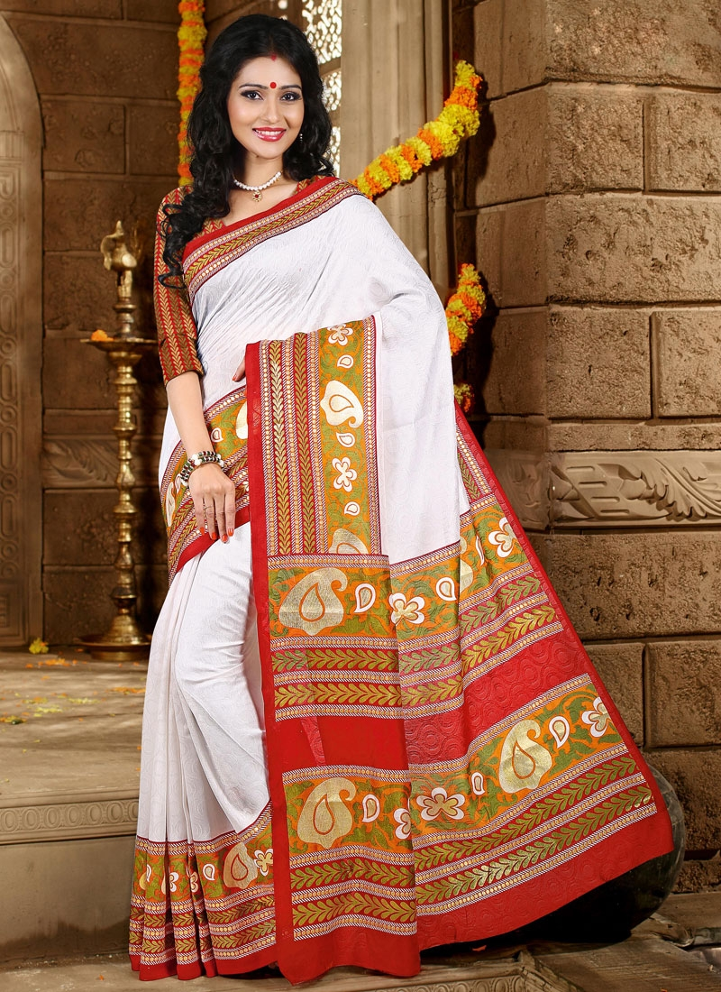 Sensational Printed Casual Saree