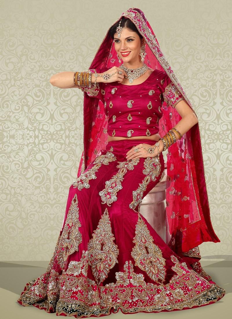 Sensational Stone Enhanced Bridal Lehenga Choli