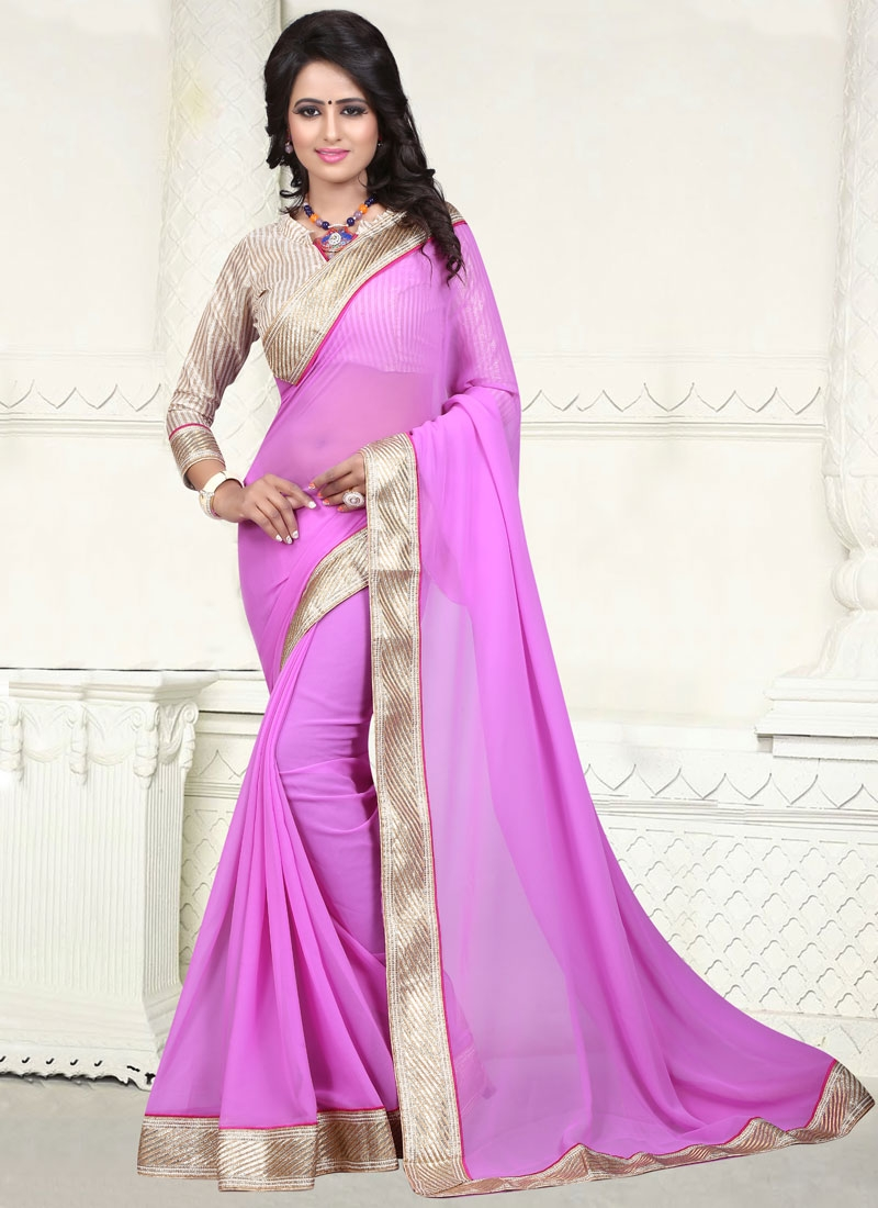 Sensible Faux Georgette Resham Work Casual Saree