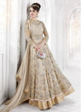 Sensible  Layered Designer Anarkali Suit For Festival