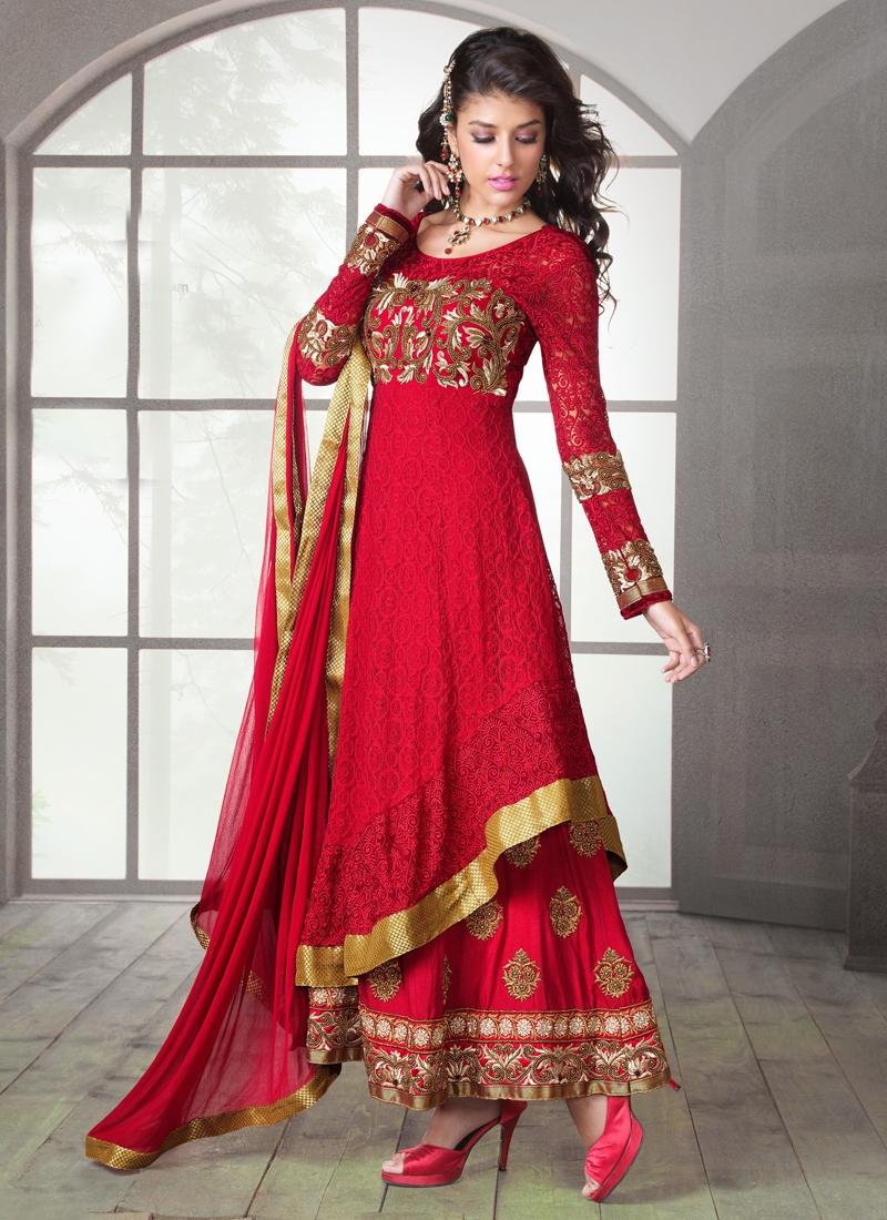 Sensible Multi And Patch Work Designer Salwar Suit