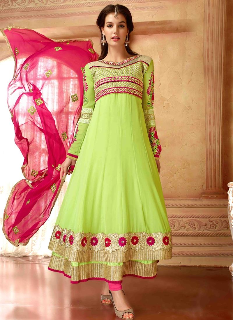 Sensible Resham Work Anarkali Salwar Suit