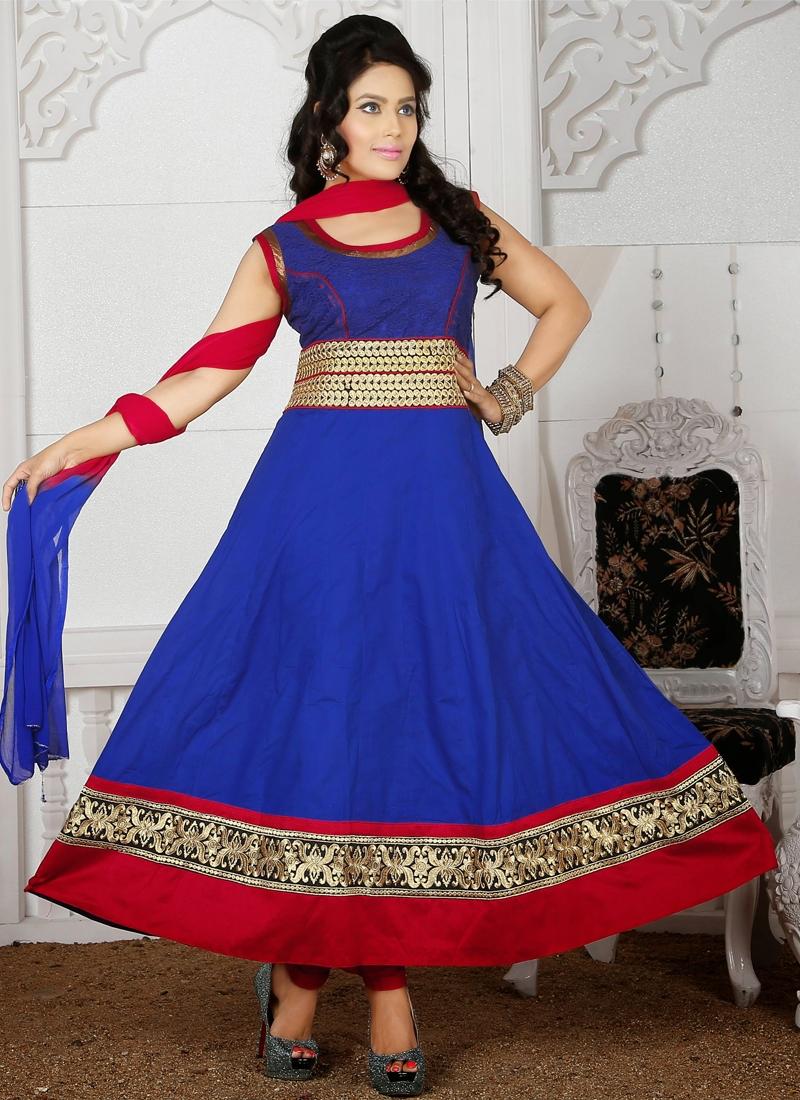 Sensible Resham Work Readymade Churidar Suit