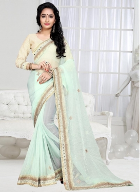 Sensible Shimmer Georgette Trendy Classic Saree