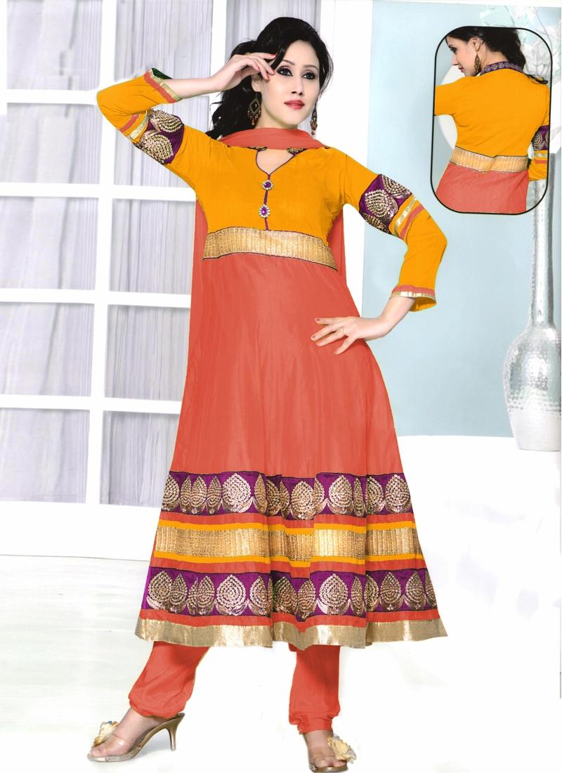 Sequins Work Readymade Anarkali Salwar Kameez