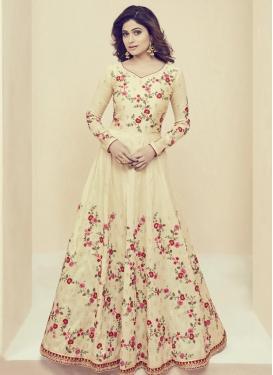 Shamita Shetty Art Silk Long Length Salwar Kameez