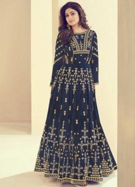 Shamita Shetty Art Silk Trendy Anarkali Salwar Suit