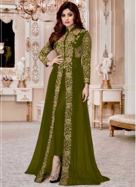 Shamita Shetty Cord Work Pant Style Designer Suit
