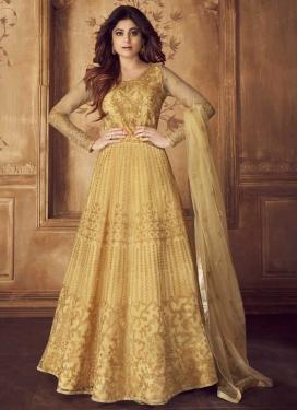 Shamita Shetty Designer Floor Length Suit For Ceremonial