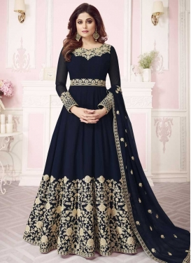 Shamita Shetty Embroidered Work Floor Length Anarkali Salwar Suit