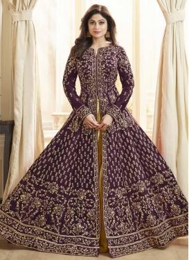 Shamita Shetty Embroidered Work Floor Length Designer Salwar Suit