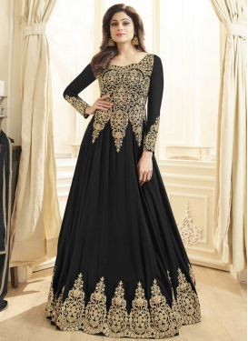 Shamita Shetty Embroidered Work Floor Length Designer Suit