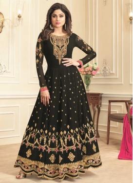 Shamita Shetty Embroidered Work Floor Length Kalidar Salwar Suit