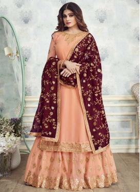 Shamita Shetty Embroidered Work Sharara Salwar Kameez