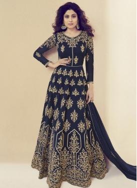 Shamita Shetty Embroidered Work Trendy Anarkali Salwar Kameez