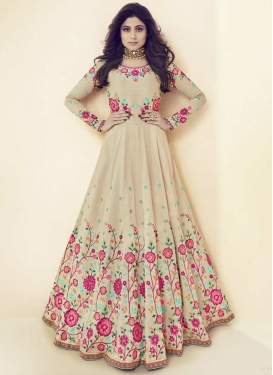 Shamita Shetty Embroidered Work Trendy Anarkali Salwar Kameez