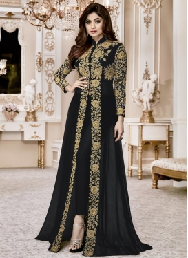 Shamita Shetty Embroidered Work Trendy Designer Salwar Kameez