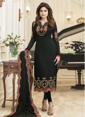 Shamita Shetty Embroidered Work Trendy Pakistani Salwar Suit