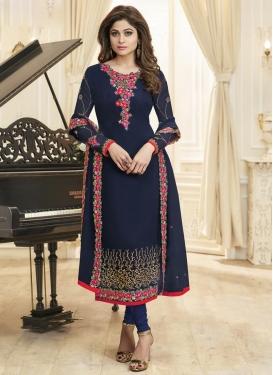 Shamita Shetty Faux Georgette Designer Pakistani Salwar Suit