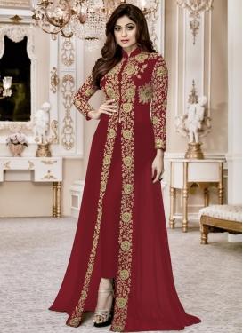 Shamita Shetty Faux Georgette Designer Salwar Kameez