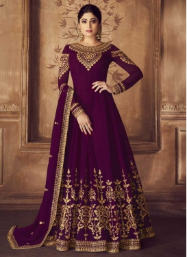 Shamita Shetty Faux Georgette Floor Length Anarkali Salwar Suit