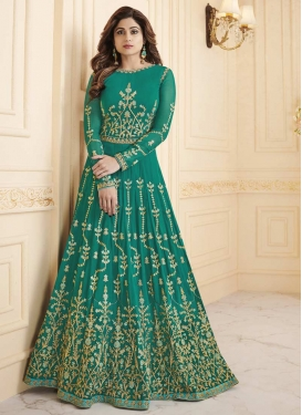 Shamita Shetty Faux Georgette Long Length Anarkali Salwar Suit