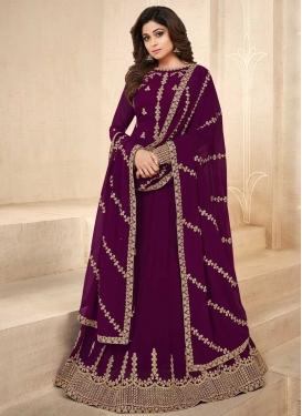 Shamita Shetty Faux Georgette Long Length Anarkali Salwar Suit