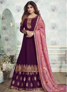 Shamita Shetty Faux Georgette Sharara Salwar Kameez