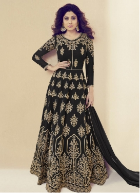 Shamita Shetty Faux Georgette Trendy Anarkali Salwar Kameez