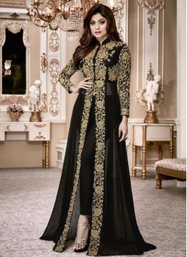 Shamita Shetty Faux Georgette Trendy Designer Salwar Kameez
